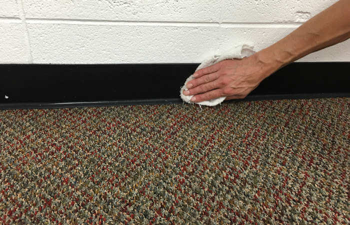 baseboard and trim wipe down after cleaning the carpets