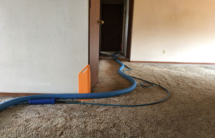 installing corner guard to protect hallway corner