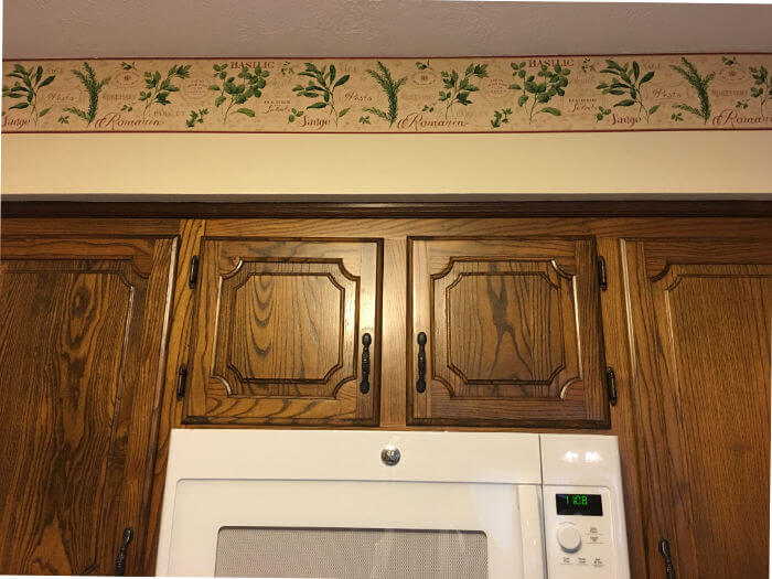 cabinets and ceiling restored after fire