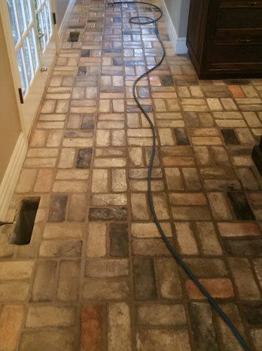 Brick Stone Tile Floor Cleaning Project In Springfield Mo 5 4 17