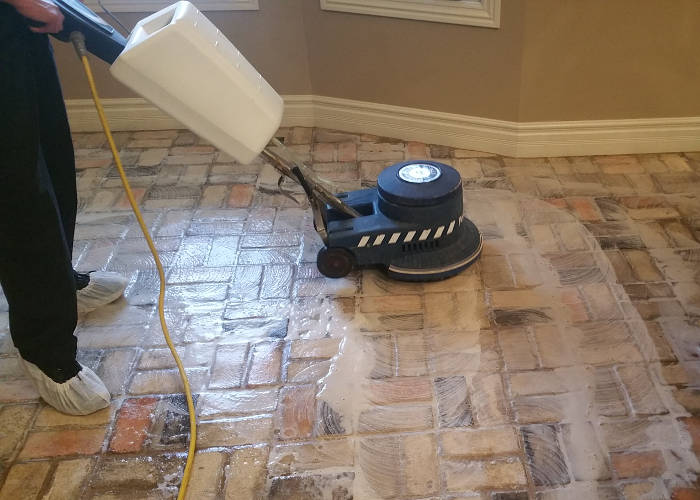 Brick Amp Stone Tile Floor Cleaning Project In Springfield Mo
